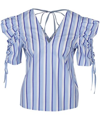 Bluza cu dungi albastru & alb - Miss Selfridge