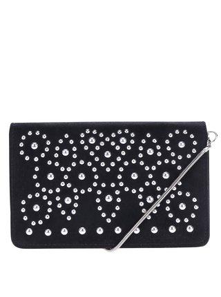 Černá malá crossbody kabelka s aplikací Miss Selfridge