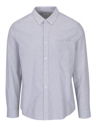 Krémovo-šedá pruhovaná košile Burton Menswear London