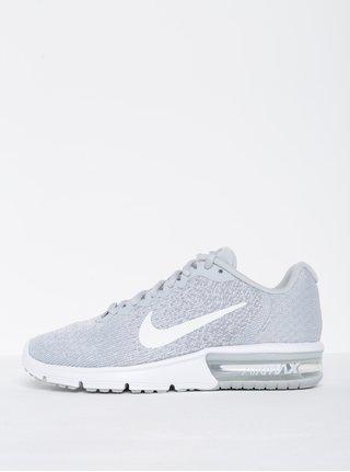 Světle šedé žíhané dámské tenisky Nike Air Max Sequent