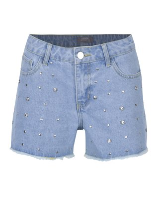 Světle modré džínové kraťasy se cvočky Dorothy Perkins
