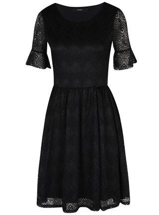 Černé krajkové šaty VERO MODA Majse