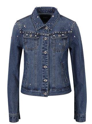 Modrá džínová bunda s cvočky ONLY Cam
