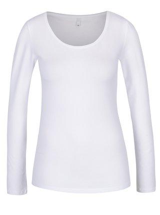 Biele basic tričko s dlhým rukávom ONLY Live