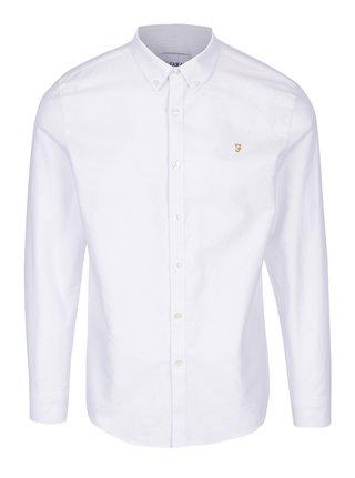 Bílá slim fit košile Farah Brewer