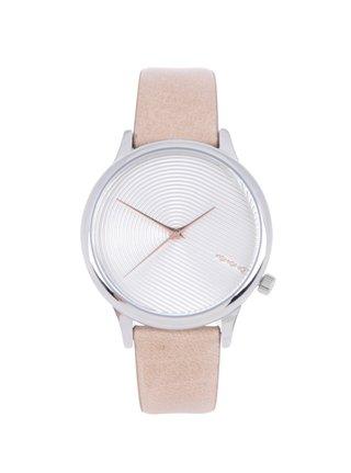 Dámske hodinky s béžovým koženým remienkom Komono Estelle Deco