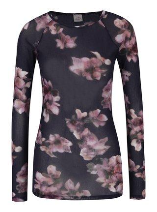 Bluza cu imprimeu floral mov & roz - DEHA