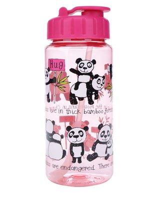 Ružová dievčenská fľaša na pitie Tyrrell Katz Pandas