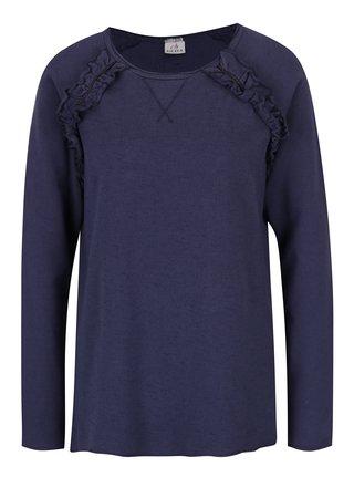 Bluza albastra cu volane delicate - DEHA