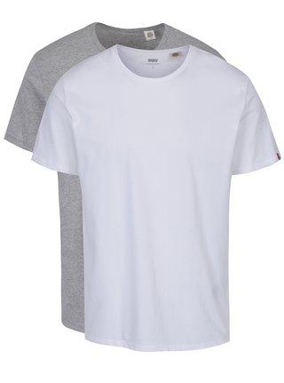 Súprava dvoch basic tričiek v bielej a sivej farbe Levi's®