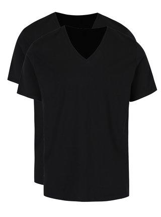 Súprava dvoch čiernych basic tričiek s véčkovým výstrihom Levi's®