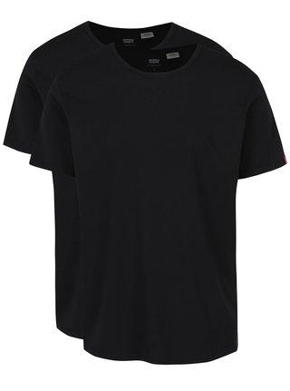 Súprava dvoch čiernych basic tričiek s okrúhlym výstrihom Levi's®