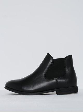 Černé kožené chelsea boty Selected Femme Beathe