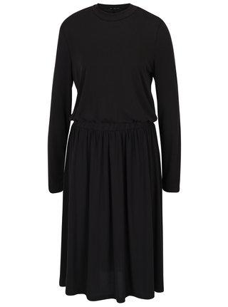 Čierne šaty s dlhým rukávom VERO MODA Metti