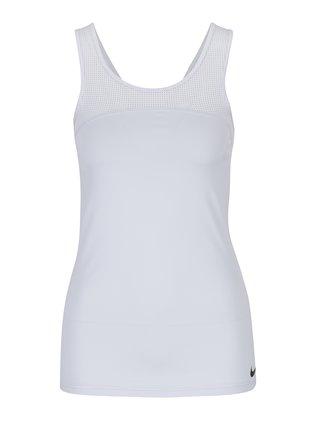 Svetlosivé dámske funkčné tielko Nike