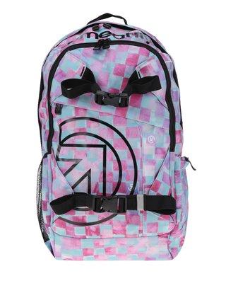 Zeleno-ružový dámsky kockovaný batoh Meatfly Basejumper 3 20 l