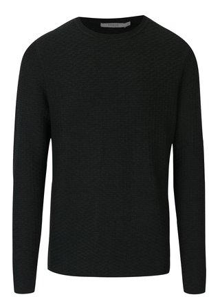 Tmavozelený sveter s jemným vzorom Jack & Jones Brick