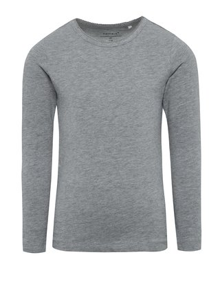 Sivé dievčenské tričko s dlhým rukávom name it Viola