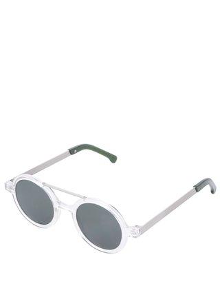 Ochelari de soare rotunzi argintii pentru femei Komono Vivien