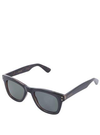 Černé unisex sluneční brýle Komono Allen