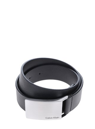 Čierny pánsky kožený opasok Calvin Klein Mino