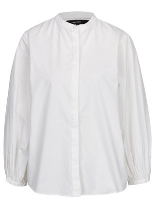 Krémová košeľa s 3/4 balónovým rukávom VERO MODA Thea