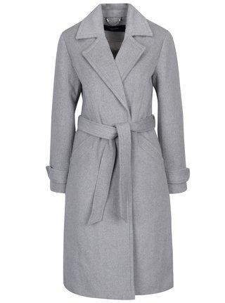 Svetlosivý kabát s prímesou vlny VERO MODA Jess