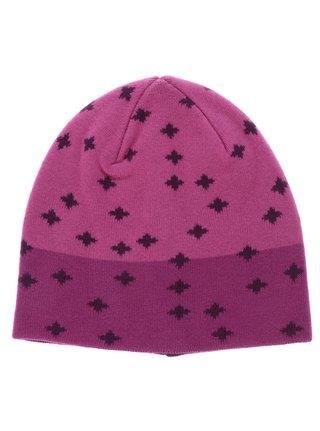 Ružová vzorovaná dievčenská čapica name it Manto