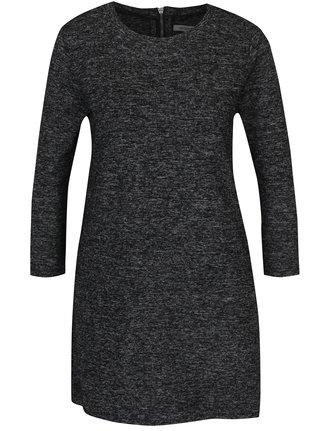 Tmavosivé svetrové minišaty s 3/4 rukávmi Haily´s Dina