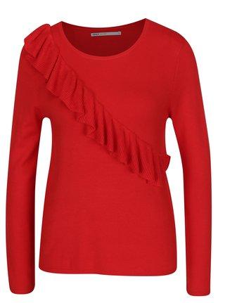 Červený svetr s volánem ONLY Mila