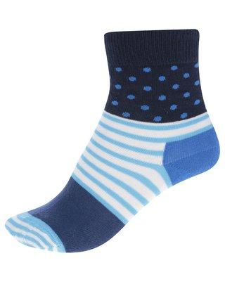Modré detské bodkované ponožky Happy Socks Stripe & Dot