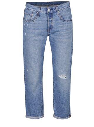 Modré dámské zkrácené mom džíny s potrhaným efektem Levi's® Culture Shock