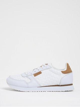 Pantofi sport albi cu detalii din piele Woden Ydun pentru femei