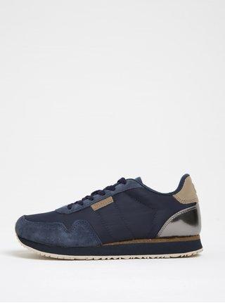 Pantofi sport bleumarin cu detalii din piele pentru femei - Woden Nora II