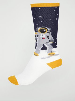 Modro-biele chlapčenské podkolienky s astronautom Sock it to me One Small Step