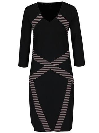 Růžovo-černé vzorované šaty Yest