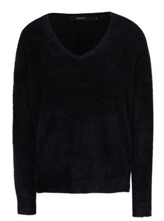 Čierny voľný sveter s véčkovým výstrihom VERO MODA Moraga