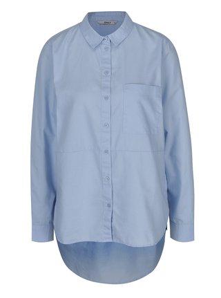 Camasa asimetrica bleu pentru femei - ONLY Laurette