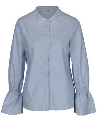 Camasa bleu cu guler mao si maneci clopot -  ONLY Fame