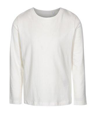 Krémové chlapčenské tričko s dlhým rukávom name it Villum