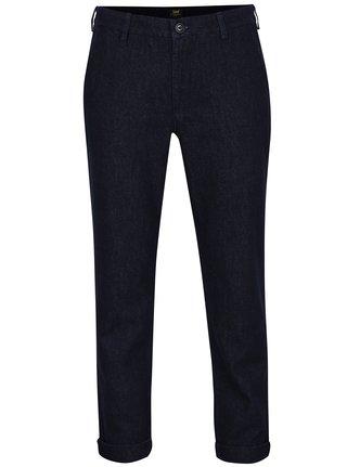 Tmavě modré dámské džínové slim chino kalhoty Lee
