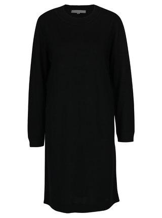 Čierne svetrové vlnené šaty Selected Femme Eileen
