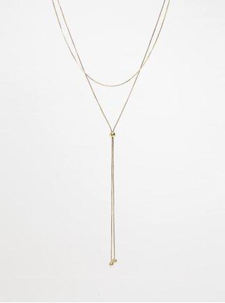 Dvojitý náhrdelník ve zlaté barvě Pieces Nilo