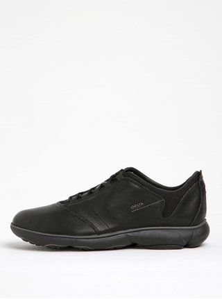 Pantofi sport negri din piele naturala Geox Nebula A