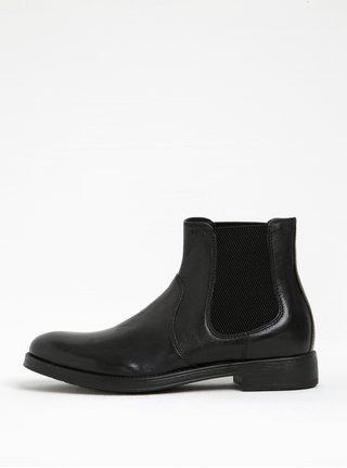 Čierne pánske kožené chelsea topánky Geox Blaxe B