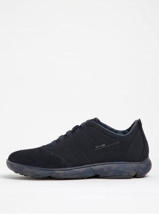 Pantofi sport albastri din piele intoarsa pentru barbati Geox Nebula B