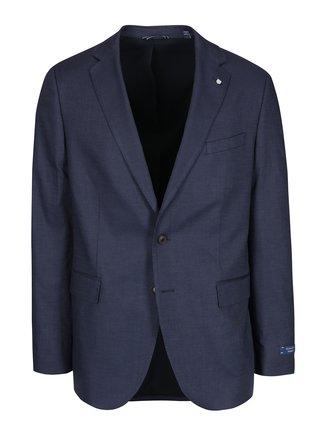 Modré pánské oblekové sako s jemným vzorem GANT