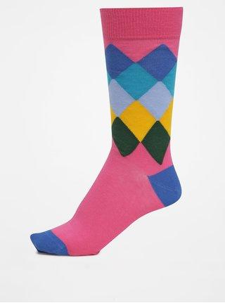 Modro-ružové pánske kárované ponožky GANT