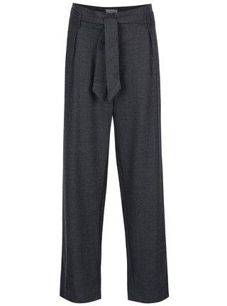 Pantaloni gri inchis cu talie inalta Selected Femme Lima