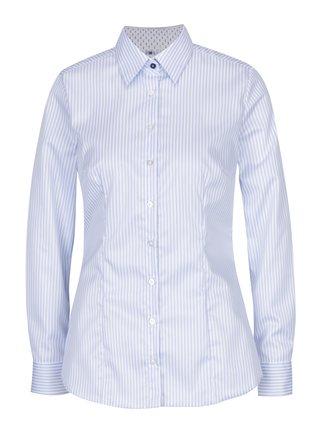 Svetlomodrá dámska pruhovaná košeľa VAVI